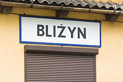 Signboard of Bliżyn train station (1).jpg