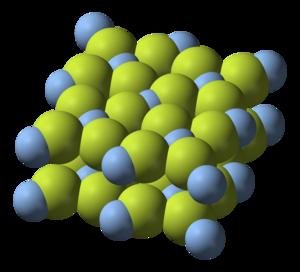 Silver(II) fluoride - Image: Silver(II) fluoride 3D ionic