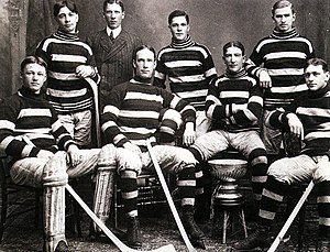 Rat Westwick - Harry Westwick, leftmost player in back row, as a member of the 1905 Ottawa Silver Sevens.
