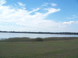 Silver Lake, behind the Lake-Sumter State College campus