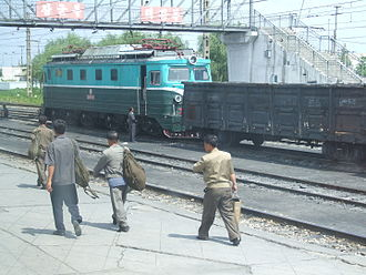 Korean State Railway - Red Flag 1 class 붉은기5136 in Sinanju.