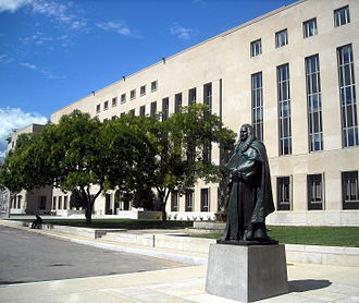 E. Barrett Prettyman United States Courthouse - Statue of Sir William Blackstone located at the south front