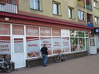 Sklep mięsny Szybcio w Mońkach (Niepodległości 4).jpg