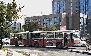 Ikarbus - Ikarus IK-160 articulated bus in Skopje.