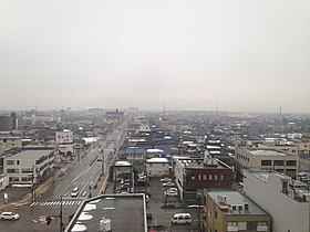 Skyline of Takaoka, Toyama from high-stored building.JPG