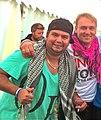 Slawomir Rynkiewicz and Gurkan Gasi, backstage tv show Waterwörld.jpg