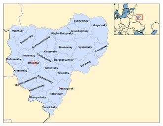 Smolensk Oblast - Administrative divisions of Smolensk Oblast