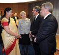 Smriti Irani in conversation with the DG, UNESCO, Irina Bokova, the President of Bulgaria, Mr. Rosen Plevneliev and the President of Macedonia, Mr. Gjorge Ivanov, at UNESCO on November 16, 2015.png