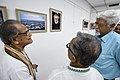 Somendranath Bandyopadhyay Accompanied By Tarak Sengupta And Mrinal Kumar Bandyopadhyay Visiting 1st Four Ps Group Exhibition - Kolkata 2019-04-17 5495.JPG