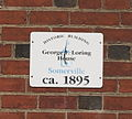 Somerville MA George Loring House plaque.jpg