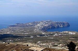 Akrotiri, Santorini - Image: South west of Santorini