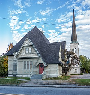 United Church of Christ - South Parish Congregational Church in Augusta Maine and Parish House in 2013