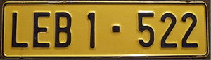 Vehicle registration plates of South Africa - A 1974 license plate from Lebowa homeland.