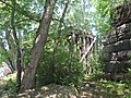 South end of former Lowell Branch trestle, July 2015.JPG