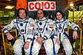 Soyuz TMA-15M crew in front of their spacecraft.jpg