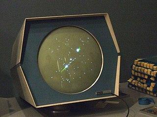 Spacewar! en la pantalla del PDP-1