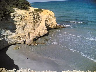 Salento - Beach in Conca Specchiulla, north of Otranto.