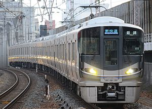 JR Kobe Line - 225-100 series on a Special Rapid Service, November 2016