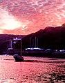 Spectacular sunset over Solva harbour - geograph.org.uk - 1524345.jpg