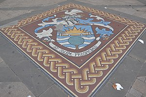 Spelthorne - Image: Spelthorne coat of arms mosaic