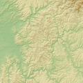 Spessart (Relief) - Deutsche Mittelgebirge, Serie A-de.png