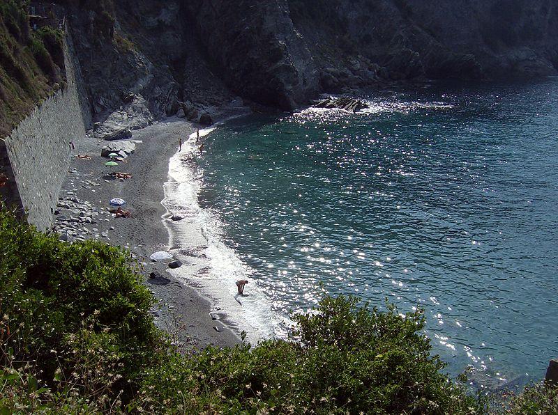 Praia de nudismo na Itália