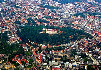 Špilberk Castle - Aerial view of the castle