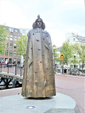 Baruch Spinoza - His statue in Amsterdam