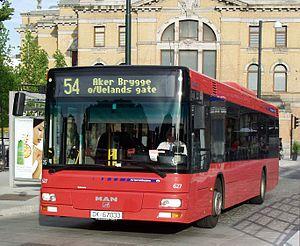 Oslo Sporveier - An Oslo Sporveier bus operated by the subsidiary Sporveisbussene.