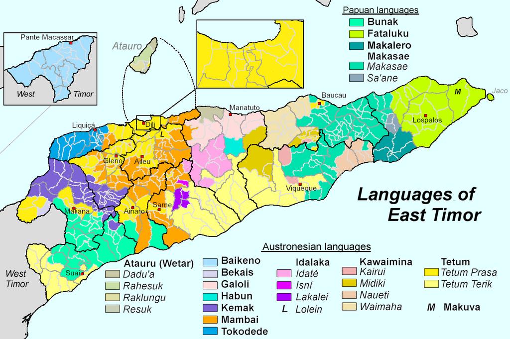 Persebaran bahasa di Timor Leste