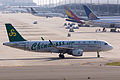 Spring Airlines, 9C8527, Airbus A320-214, B-9965, Arrived from Jinjiang, Kansai Airport (17162095636).jpg