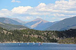 Square Top Mountain viewed from Dillon Reservoir, July 2016.jpg