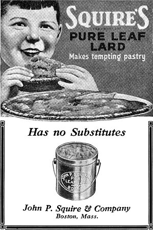 Squire's Pure Leaf Lard. Makes tempting pastry...
