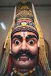 Depiction of Aravan, worshiped at Sri Mariamman Temple, Singapore
