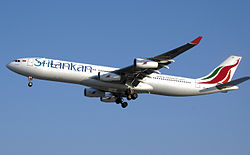 Airbus A340-300 der SriLankan Airlines