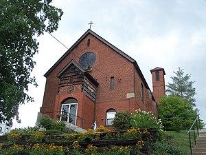 Amsterdam, Ohio - Saint Joseph Catholic Church on Route 164