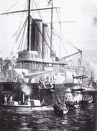 Anglo-Zanzibar War - HMS ''St George'' and HMS ''Philomel''
