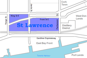St. Lawrence, Toronto - Image: St Lawrence map