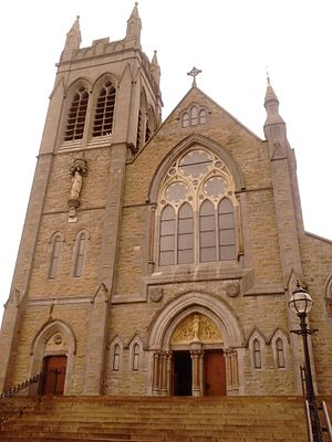Carrick-on-Shannon - Front Façade - St Mary's Church in Carrick on Shannon, Ireland