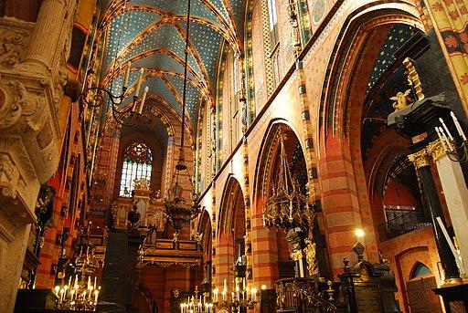 St Mary's church Krakow inside