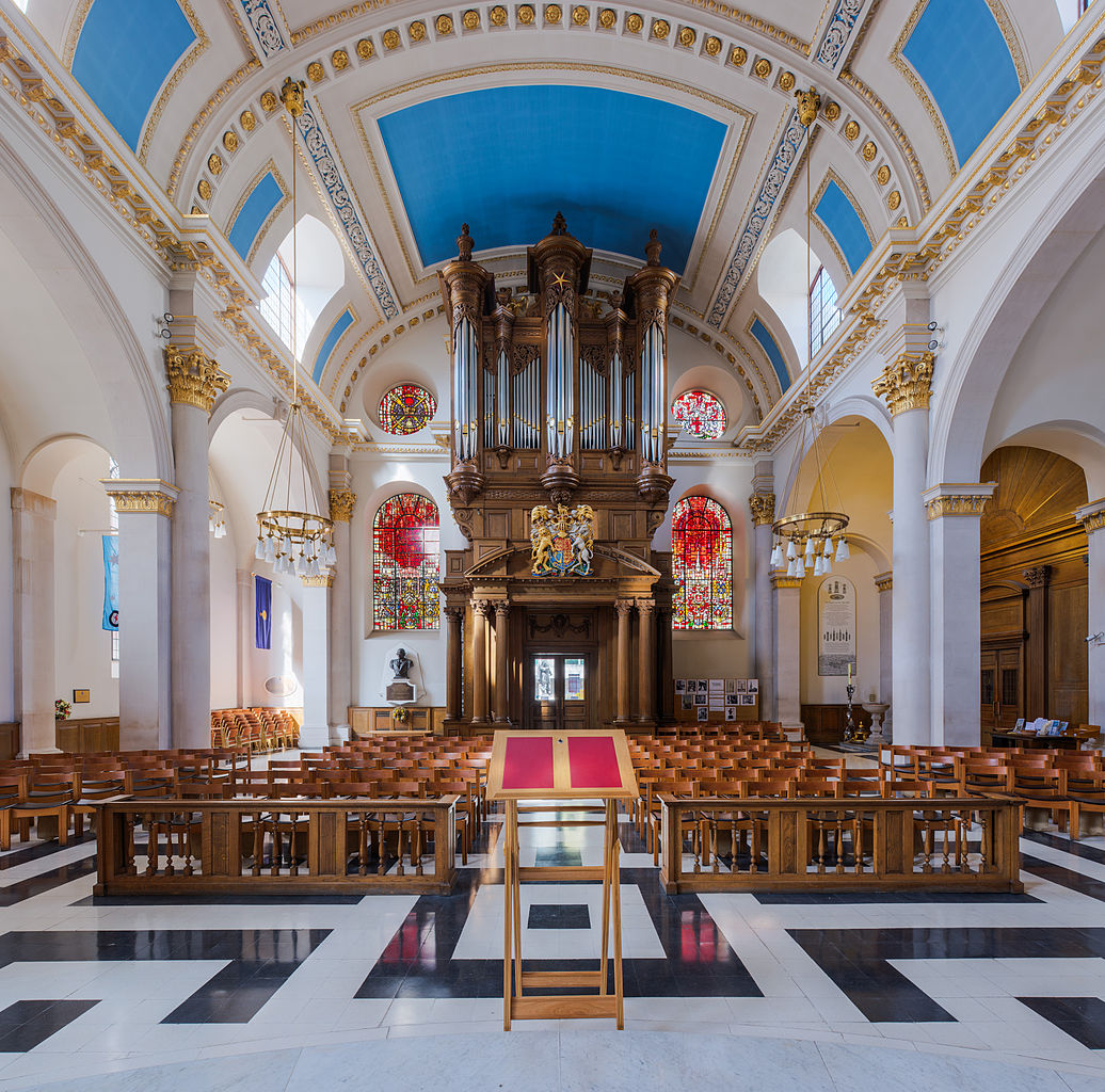 An overview of the st mary le bow church in the city of london