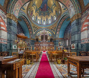 John Oldrid Scott - Interior of St Sophia's Greek Orthodox Cathedral, Bayswater