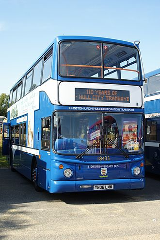 Stagecoach in Hull - Alexander ALX400 bodied Dennis Trident 2 painted in retro KHCT livery in 2009