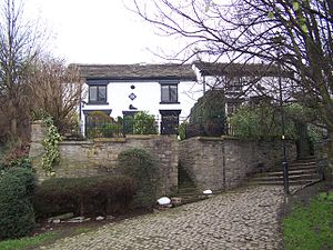 Stalybridge - Bohemia Cottages: weavers' cottages in Stalybridge dating from 1721