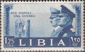 Postage stamps of Italian Libya - Italian Libya stamp issued in 1941, during World War II