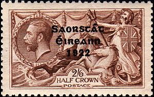 1922 2/6 value King George V stamp overprinted...