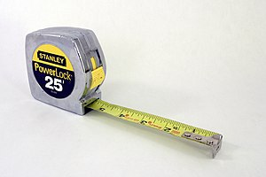 A Stanley PowerLock tape measure.