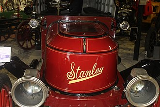 Stanley Motor Carriage Company - A Stanley Steamer on display at the Cole Land Transportation Museum in Bangor, Maine