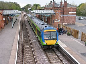 Birmingham–Peterborough line - Image: Stansted Train at Melton Mowbray Station geograph.org.uk 160183