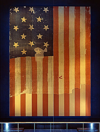 "The Star-Spangled Banner - The 15-star, 15-stripe ""Star-Spangled Banner"" that inspired the poem"